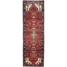 ecarpetgallery Hand-knotted Persian Asadabad Orange Wool Rug