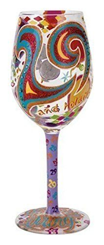 "Enesco ""29 and Holding"" W_ine Glass, Multicolor"