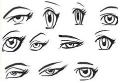 how to draw anime eyes - - Yahoo Image Search Results