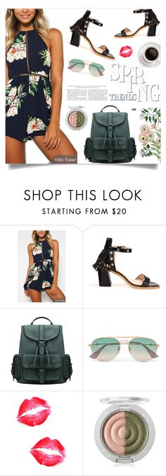"""""""Yoins: Floral Playsuit"""" by loveyoins ❤ liked on Polyvore featuring Gucci and vintage"""