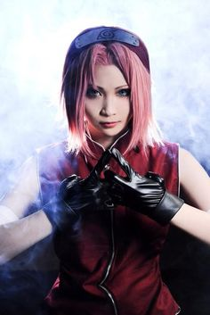 Linzu(綸子) Sakura Haruno Cosplay Photo - WorldCosplay - COSPLAY IS BAEEE! Tap the pin now to grab yourself some BAE Cosplay leggings and shirts! From super hero fitness leggings, super hero fitness shirts, and so much more that wil make you say YASSS! Naruto Cosplay, Cosplay Anime, Epic Cosplay, Cute Cosplay, Cosplay Makeup, Amazing Cosplay, Cosplay Girls, Cosplay Costumes, Sakura Haruno Cosplay