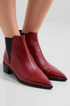 Acne Studios - Jensen Leather Ankle Boots - Brick - IT37
