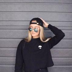 Casual Women'S Pullover Jumper Hoodie Long Sleeve Alien Printed Sweatshirt Tops