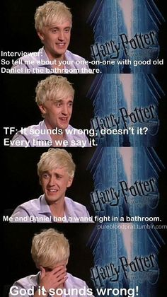 Every fangirl knows exactly what happened during that 'wand fight' in the bathroom! *squee*