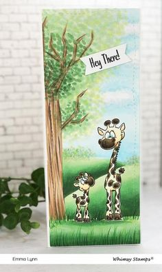 **NEW Giraffe Momma and Baby Rubber Cling Stamp | Whimsy Stamps Page Decoration, Whimsy Stamps, Friendship Cards, Illustration, Baby, Giraffe Illustration, Card Crafts, Friend E Cards, Illustrations