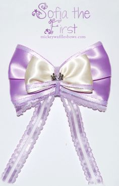 Sofia the First Hair Bow by MickeyWaffles on Etsy, $9.00