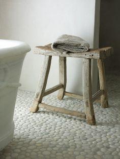 rustic stool - cool floor
