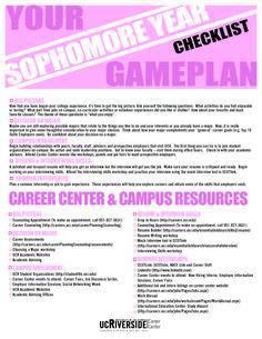 Sophomore Year Checklist