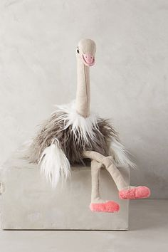 you don't have to be a kid! I want her for my desk! Fun Olivia Ostrich Stuffed Animal #anthroregistry
