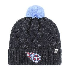 brand new fb432 ba739  47 Brand Women s Tennessee Titans Fiona Cuff Pom Winter Knit Hat (Navy)  Tennessee