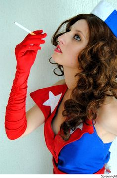 Pin Up of Captain America by LaraCosplay on deviantART
