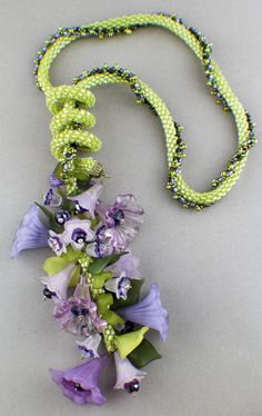 Kumihimo - Bead&Button Show Workshops & Classes: Monday June 2, 2014: Braided Lilies on the Vine