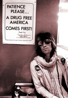 Keith Richards Drug Free Poster 72' Rolling Stones RARE | eBay