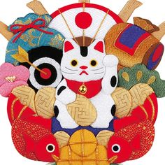 Neko Cat, Maneki Neko, Asian Doll, Doll Costume, Cat Art, Creative Art, Quilt Blocks, Kittens, Japanese