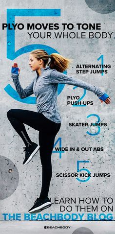 Looking for a killer total-body workout? Try plyometrics! These 5 plyo moves will get your heart pumping and your muscles burning. Plyo Workouts, Plyometric Workout, Plyometrics, Fitness Workouts, Fitness Tips, Cardio, Form Fitness, Scissor Kicks, Ab Moves