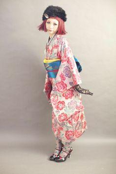 kimono-pink floral
