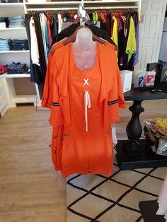Gorgeous #PaoloTricot #dress #jacket in #Orange #colourpop #detailing #ladieswear #fashion  www.jazmineharbour.ca Elizabeth Street, Cover Up, Women Wear, Orange, News, Jackets, Dresses, Fashion, Tricot