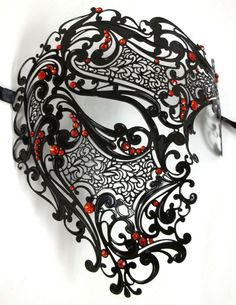 Free Shipping Silver,Black Gold 3 Color Phantom Laser Cut Venetian Mask Masquerade Metal Men or Women Skull Filigree for party