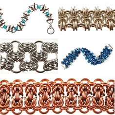 DIY Jewelry Chainmaille Byzantine Variations   Blue Buddha Boutique
