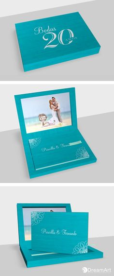 DreamArt Photography share this beautiful example of a @graphistudio Young Book. Special Thanks to Priscilla & Fernando! #DreamArtPhotography #DreamArtWedding #WeddingBook #GraphiStudio #YoungBook - Book Size 30x 20 cm. 30 Thick pages. Ribbon Tiffanyl. Box and Cover Book Maple Turquoise.