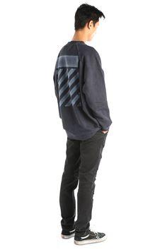 Blue Garment Dye Pullover
