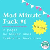 Note Naming Mad Minute Pack #1