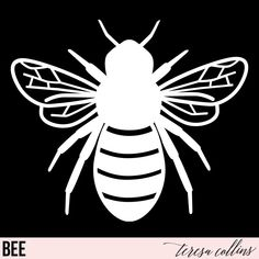 Cricut Craft Room, Cricut Vinyl, Svg Files For Cricut, Svg Files For Scan And Cut, Bee Silhouette, Flower Silhouette, Silhouette Design, Brother Plotter, Cricut Cuttlebug