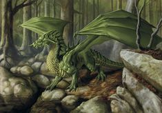 Green dragon, associated with the mother goddess, a symbol of life, death, and rebirth.