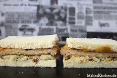 Ein leckeres Sandwich mit paniertem Schnitzel