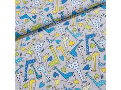 Bavlněné plátno dětské Radek RA003/01 barevné žirafy na šedé, š.160cm (látka v metráži) | TextilCentrum.cz Scrappy Quilts