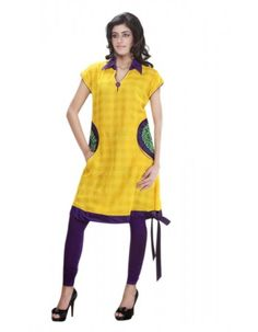 Exotic Yellow Ready Made Kurti  Rs.2,245 26% OFF