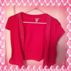 Cardigan NWOT Pink with silver studs can fit a small or medium Diva Tops