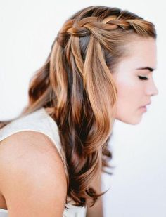 Waterfall braid (cool colors)