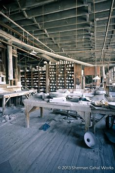 Shenango China Manufacturing Plant in New Castle, PA after the company closed in 1991