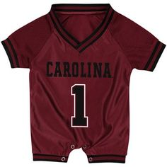 University of South Carolina Gamecocks Newborn Football Jersey Romper
