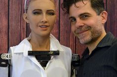 Sophia, created by Hanson Robotics, is a central attraction at a UN-sponsored conference in Geneva, where attendees are discussing how artificial intelligence can be a benefit to humanity. Humanoid Robot, Artificial Intelligence, Good Things, Sayings, World, Lyrics, The World, Quotations, Idioms