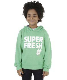 """Blusão em Moletom """"Super Fresh"""" Verde Claro - cea"""