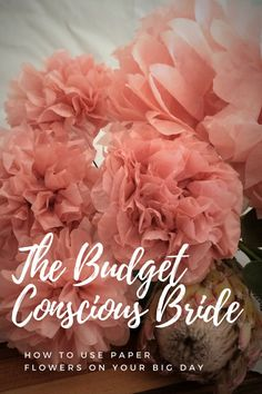 Making use of paper flowers for your wedding will save you some serious money, and you will not have to worry about the flowers looking droopy or even dying before your guests even sit down at the.