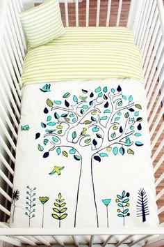 Apple Tree Baby Crib Bedding Set 100% Sateen by atelieredele