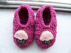 Crochet Toddler Slippers free crochet pattern