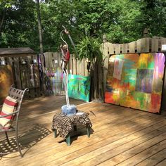 My deck where I do several art shows throughout the year.