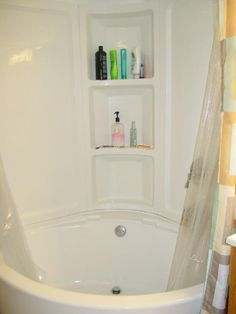 Corner tub and shower