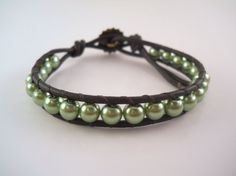 Beaded Leather Wrap Bracelet Chan Luu Friendship by PZWDesign, $16.00