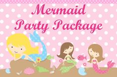 Mermaid Birthday Party Invitation Package by CutiesTieDyeBoutique, $42.00