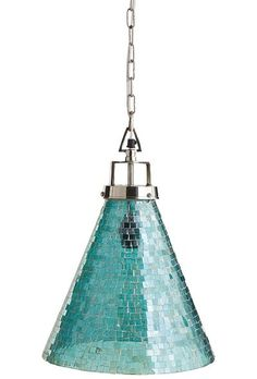 ThisOceans Mosaic Pendant Light reflects layers upon layers of rich light, thanks to hundreds of tiny aqua tesserae that were placed by hand. All hardware is included. $129. Buy here.  #LGLimitlessDesign #Contest