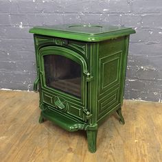 French Enamelled Franco Belge Wood Burning / Multifuel Cast Iron Stove | eBay