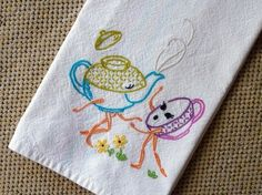 embroidery dish towel patterns - Google Search