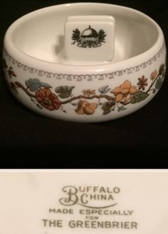Made for the Greenbrier Hotel, White Sulphur Springs, WV. White Sulphur Springs, Dining Services, Restaurant, Wwii, 1920s, Buffalo, Family Room, China, Living Room