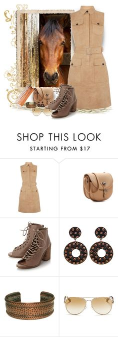 """""""Stable buddy"""" by peace-rf ❤ liked on Polyvore featuring Karen Millen, Hayden-Harnett, Steve Madden, Carolina Glamour Collection and Michael Kors"""