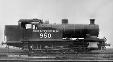 Southern A950, Maunsell SR Z Class 0-8-0T, built in Brighton, 1929. Became 30950 in BR days. Note the 11 foot overhangs front and back. A marshalling yard shunting engine made from a Brighton boiler and standard parts.